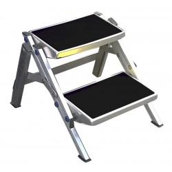 Escalón Doble Plegable de Aluminio