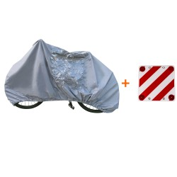 KIT bicycle cover with warning plate