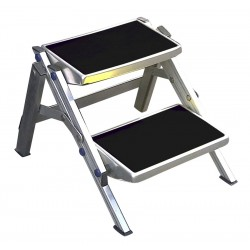 Escalón de Doble de Caravana Plegable de Aluminio