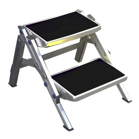 Escalón de Caravana Doble Plegable de Aluminio