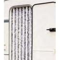 Caravan Chenille Curtain Grey and White