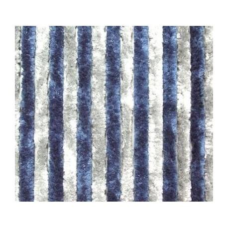 Rideaux de porte en chenille Bleu et Blanc