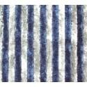 Cortina Tercipelo Puerta Caravana Azul y blanco