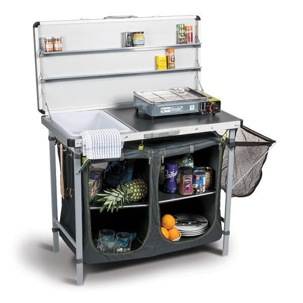 Mueble de cocina para camping con fregadera kampa chieftain