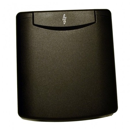 Male socket P17 16A black recessed