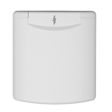 Male socket P17 16A white recessed