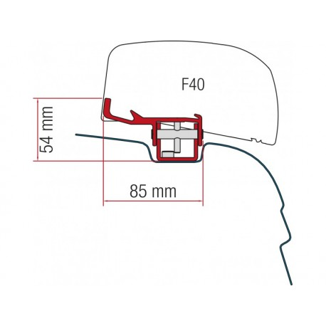 Adaptador Fiamma F40 Van VW T5/T6