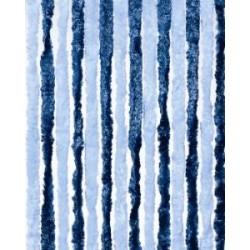 930481 Cortina Tercipelo Puerta Caravana Azul Oscuro y Claro