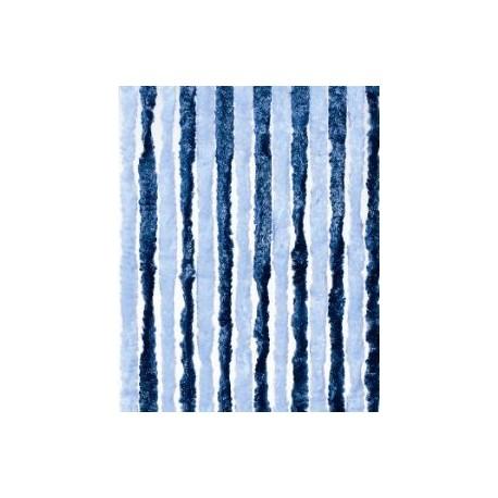 930481 Rideaux de porte en chenille Bleu Marine et Ciel