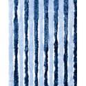 Rideaux de porte en chenille Bleu Marine et Ciel