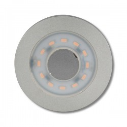 Foco 12 LED de superficie Aluminio