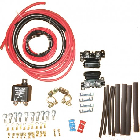 Second Battery Installation Kit with Manual Relay