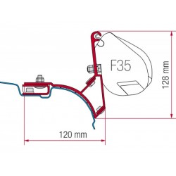 Adaptateur F35 VW T5 / T6 Multivan-Transporter