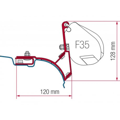 Adapter F35 VW T5 / T6 Multivan-Transporter