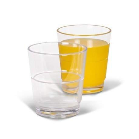 Vaso de policarbonato apilable