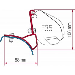 Adaptador toldo F35 para Trafic/Vivaro/Primastar Hasta 2014