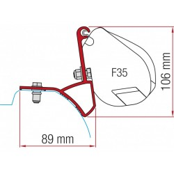 Adapter F35 Trafic / Vivaro / NV300 since 2015