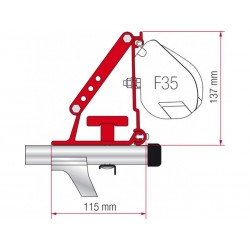 Adaptador  toldo F35 para barras de techo