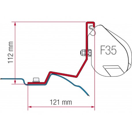 F35 awning adapter for Mercedes Viano / Classe V
