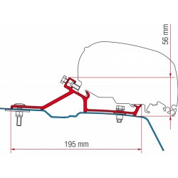 Awning Adapter F65 Renault Master H2 - Opel Movano H2 - Nissan NV400 H2 from 2010