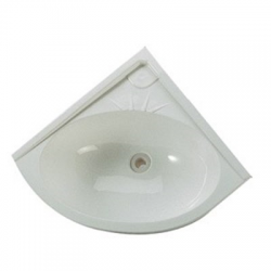 White corner sink 330 x 330 mm