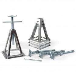 Aluminium supports set of 4