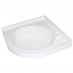 White corner sink 420 x 420 mm