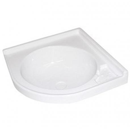 White corner sink 420 x 420 mm
