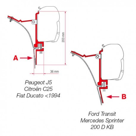 Adapter awning F45 VAN