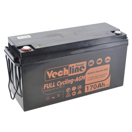 Battery Vechline Full Cycling Agm 170 Ah
