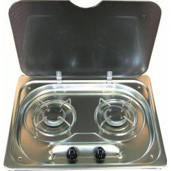 Table de cuisson 2 feux avec couvercle SUTER