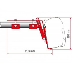 Adapter Fiamma F45 Kit Roof Rail
