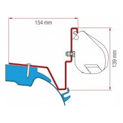 F35 awning adapter for  Mercedes Vito Jules Verne vans from 2014
